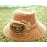 Wholesale lady natural color raffia crocheted straw hats to decorate ladies beach hats to decorate from china suppliers