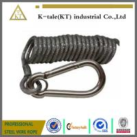 Wholesale spring wire rope sling ,black coated steel wire rope sling from china suppliers