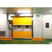 Quality Workshop Dust - Free Area PVC High Speed Industrial Doors Galvanized Steel Frame for sale