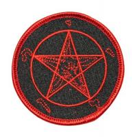 Wholesale Pentagram Satan Goat Leviathan Embroidered Iron On Applique Patch from china suppliers