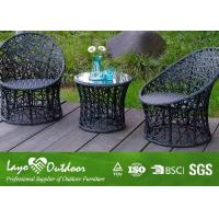 Wholesale Small Pool Patio Furniture With PE Rattan Wicker Table Chairs Anti - Aging Feature from china suppliers