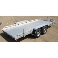 Wholesale 7x4 Aluminum Tandem Trailer With Multi Ribbed Side Panels , Aluminum Open Trailer from china suppliers