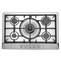 Wholesale Built In 5 Burner Kitchen Gas Hobs , Professional Steel Five Burner Gas Hob from china suppliers