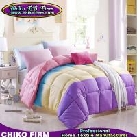 Wholesale Polyester Microfiber Filling Plain Colors Thick Autumn Winter Quilts Comforters from china suppliers