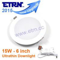 Wholesale ETRN New Ultrathin design 6 inch 15W LED ceiling recessed downlight round panel light from china suppliers