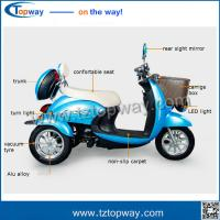 Quality Electric Mini three wheel tricycle for adults passenger with 48v 500w bldc motor for sale