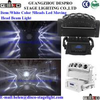 Wholesale Disco KTV Moving Head Stage Light Portable DMX Strobe Light 5*10W White LED from china suppliers