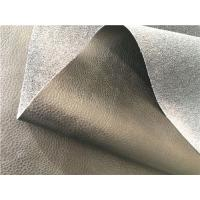 Wholesale Light Black Eco Bonded Leather , Genuine Automotive Upholstery Fabric from china suppliers