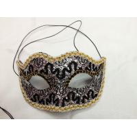 Wholesale Halloween Glittering trendy style felt party mask eye masquerade mask from china suppliers