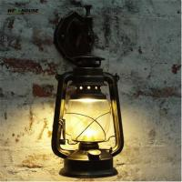 Wholesale Retro Wall Lamp European Vintage Style kerosene lamp Beside Light for bar coffee shop Led lights from china suppliers
