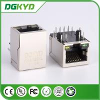Wholesale metal shielded cat 5 ethernet connector Female RJ45 with Transformer, led from china suppliers