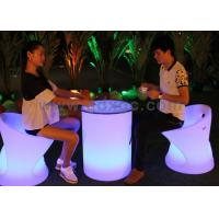 Wholesale Plastic Glowing Bar Round Table with Infrared Remote Control for Bar from china suppliers