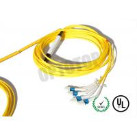 Wholesale Custom Fiber Optic Y Cable Twisted Connectors 2.0 / 3.0 mm Yellow Jacket from china suppliers