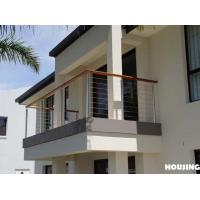 Wholesale Outdoor DIY Wire Balcony Balustrades with Framless Glass Railing from china suppliers