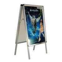 Wholesale Silver technique metal display stand  / aluminum a frame display boards from china suppliers