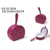 Wholesale Valentines Day Decoration Gift Box Set Purple Pink Color With Faux Leather Loop from china suppliers