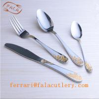 Wholesale Wholesale Cheap 72/84Pcs Gold Cutlery Set With Wooden Box from china suppliers