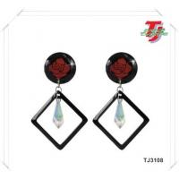 Wholesale Urban Rose Resin Fashion Earring from china suppliers