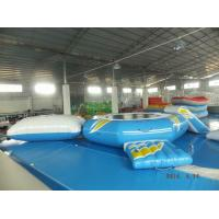 Wholesale Floating Inflatable Combo Water Trampoline With Slide And Launch from china suppliers