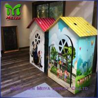 Wholesale Environment friendly Children cardboard coloring house with grey back , grey paper from china suppliers