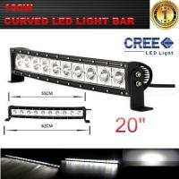 Wholesale Single Row 20-Inch 9000lm 100W  Curved Cree LED Offroad Light Bar 4WD Boat UTE Driving ATV from china suppliers