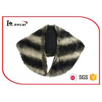 Wholesale Stripe Cream And Black Faux Fur Tippet Scarf Adults Faux Fur Infinity Scarf from china suppliers