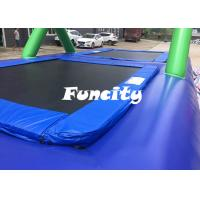Quality 0.9MM PVC Tarpaulin Inflatable Sport Games Water Volleyball Court / Water Bossball for sale