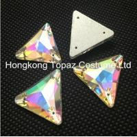 Wholesale Wholesale fashion crystal stone triangle sew on glass rhinestone trimming from china suppliers