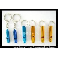 Wholesale Colorful metal whistles with key ring from china suppliers