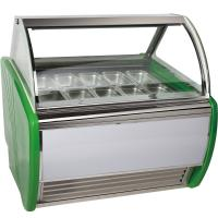 Wholesale Stainless Steel 16 Tanks Ice Cream Display Freezer / Cooler Showcase from china suppliers