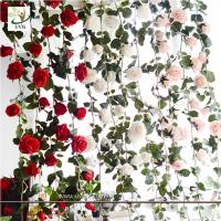 Wholesale UVG CHR148 Factory direct sales floral arrangements rose flower artificial vine for home furnishing decoration from china suppliers