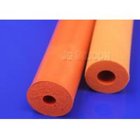 China Thermal Insulation Silicone Foam Tube Buffed Surface 4-80mm Wall Thickness on sale