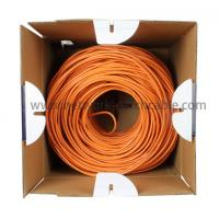 Wholesale PE Insulation Network Cat5e SFTP Cable Lan Cables 500 m/roll Orange from china suppliers