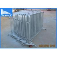 Wholesale 360 Degree Full Welded Crowd Control Barriers For Event , Silver Painted from china suppliers