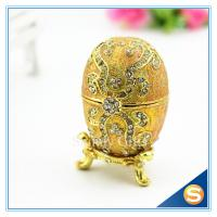 Wholesale Faberge Egg Trinket Box Jewelry Box Metal Gift Box from china suppliers
