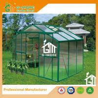 Wholesale 6'x8'x6.7'FT Green Color Double Door Traditional Series Garden Greenhouse from china suppliers