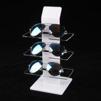 Wholesale Clear White Acrylic Eyewear Display Rack Plexiglass Sunglasses Counter Shelf Display from china suppliers