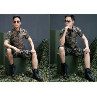 Wholesale Custom short Sleeves Military Dress Uniforms Army Camouflage Clothing from china suppliers