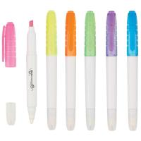 Wholesale student use erasable highlighter marker pen, highlighter with eraser from china suppliers