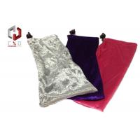 Wholesale Black White Red Pleuche Pouch With Drawstring 180 * 120mm from china suppliers