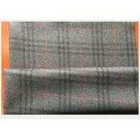 Wholesale Gray Tartan Fabric 50 Wool 50 Polyester , Black And Red Plaid Fabric750 G / M from china suppliers