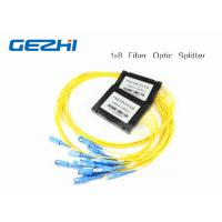Wholesale 1x8 One In Eight Out SC / UPC Fiber Optic splitter plc , optical fiber splitter SM 1M from china suppliers