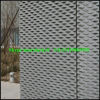Wholesale aluminum stretched metal mesh facade cladding for large building from china suppliers
