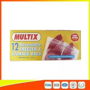 Wholesale Supermarket Plastic Freezer Zip Lock Bags / Zip Seal Food Freezer Bags from china suppliers