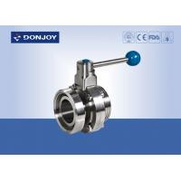 Wholesale RJT Hex Nut / Thread Manual Butterfly Valves , Female / Male Butterfly Valve from china suppliers