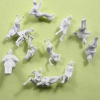 Wholesale 1:87 2.0cm Architectural Scale Model People , White Sitting Figures For HO Layout from china suppliers