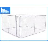 Wholesale Hot - Dipped Galvanized Welded Steel Fence , 10 X 10 X 6ft Chain Link Dog Kennel from china suppliers