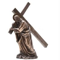 Buy cheap Religion Large metal Jesus cross bronze sculpture,customized bronze statues, China sculpture supplier from wholesalers