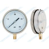 Wholesale 6 Inch brass movement liquid pressure gauge , 304 Stainless steel Pressure Gauge from china suppliers