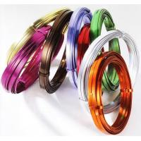 Wholesale Aluminum Flat Wire, Colored Flat Aluminum Wire from china suppliers
